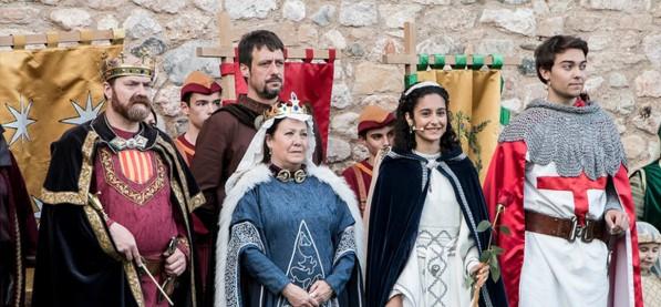 representacio de la llegenda de Sant Jordi a Montblanc