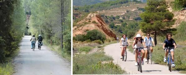 Vacaciones en familia Via verde Baix Ebre